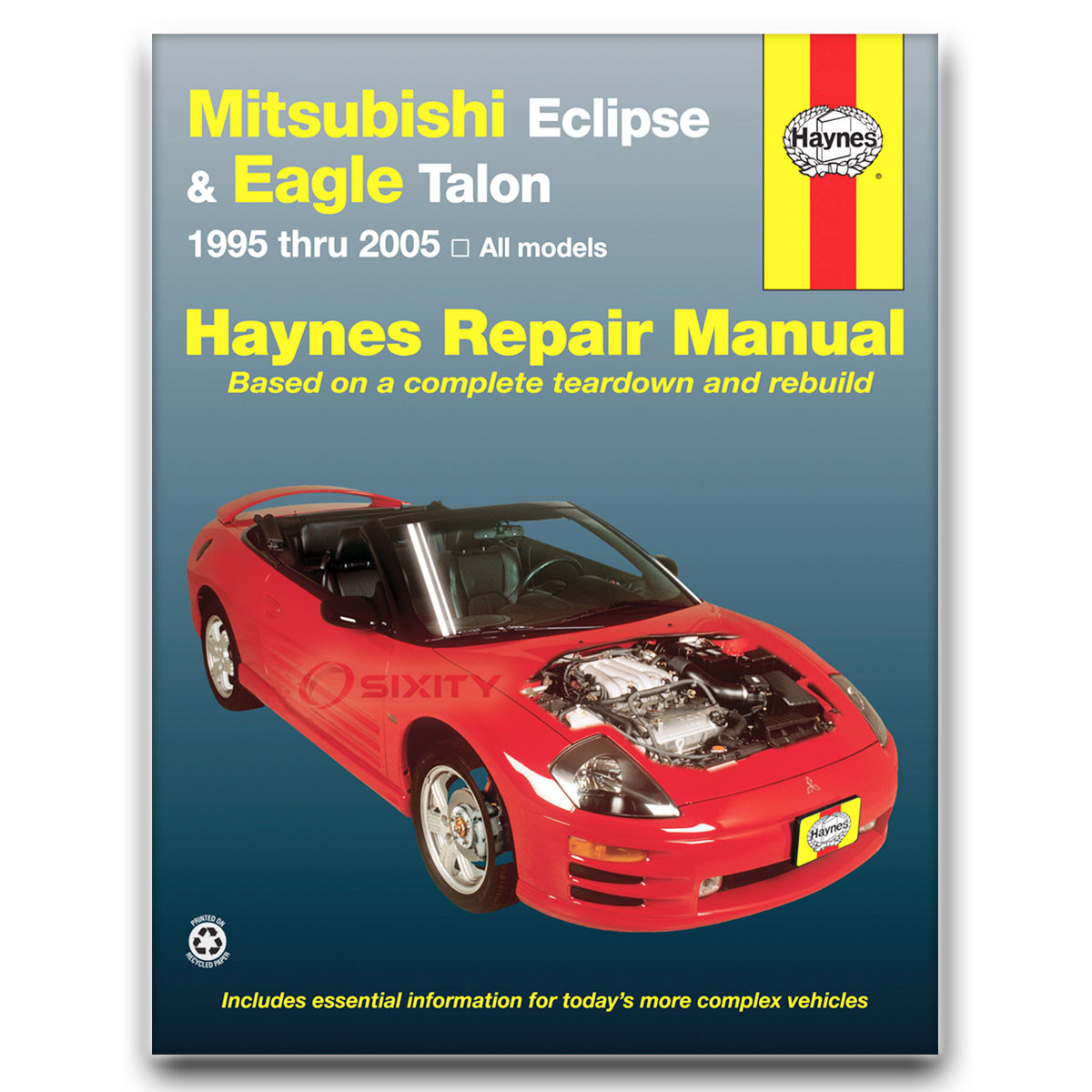 haynes repair manual for mitsubishi eclipse gst gt gsx rs spyder gts rh  ebay com 1994 Mitsubishi Eclipse Mitsubishi Eclipse GST