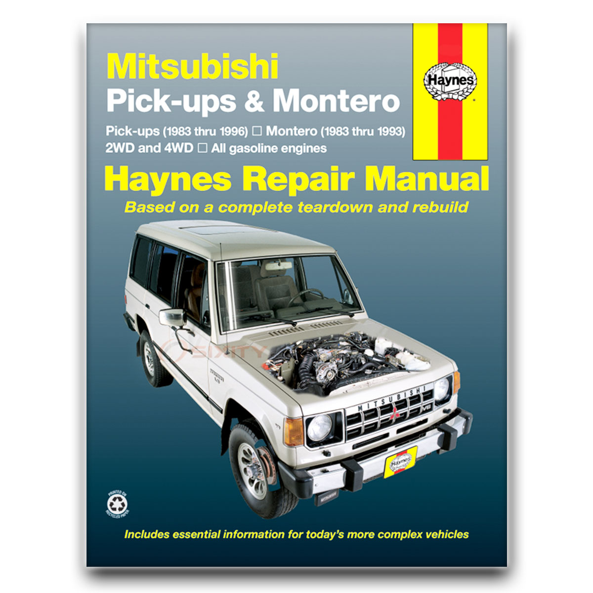 Haynes Repair Manual for Mitsubishi Montero RS Sport LS SR Base SP Shop nf