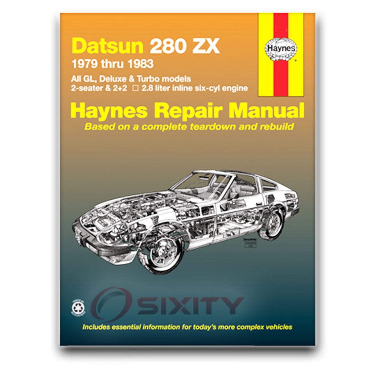 nissan 280zx haynes repair manual 2 2 gl turbo base shop service rh ebay com 2 Liters in Ounces 2 Liter Soda
