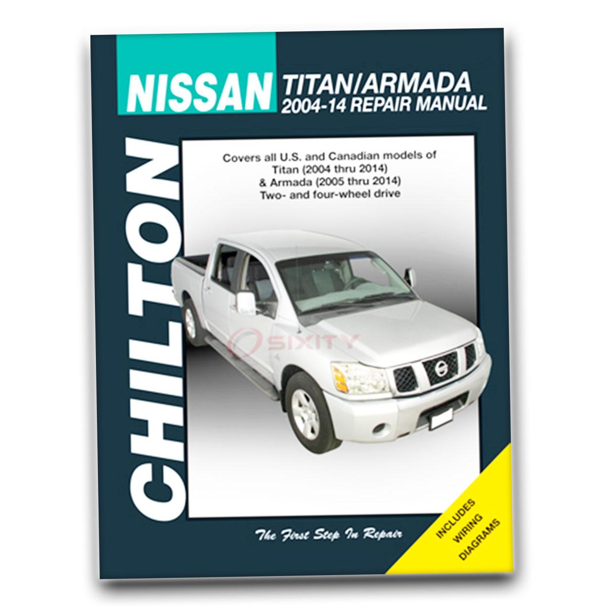 Nissan Titan Chilton Repair Manual Le Pro 4x Se Xe Shop Service 2004 Armada Wiring Diagrams Garage Book Yx