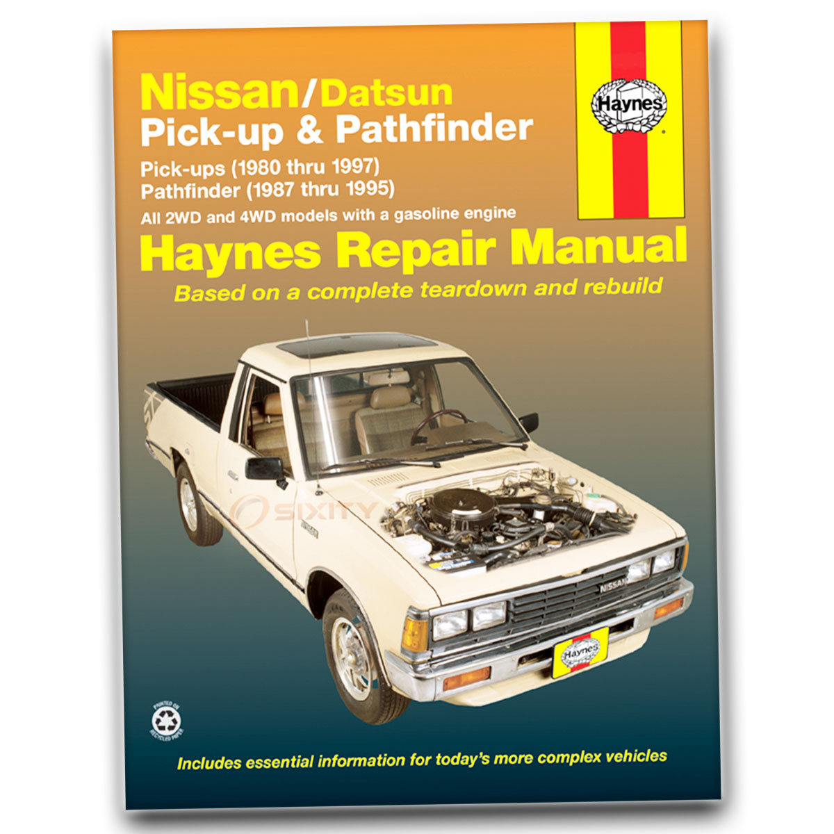 haynes repair manual for nissan d21 e xe base se shop service garage rh  ebay com 2005 Nissan Pathfinder Manual Book 2005 Nissan Pathfinder Repair  Manual