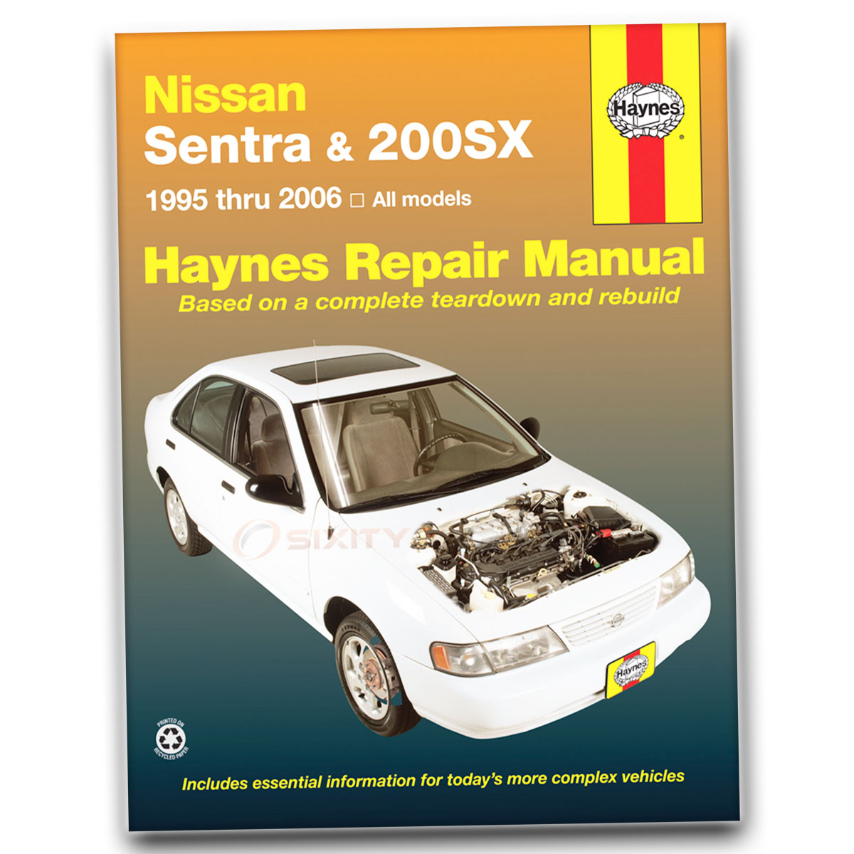 haynes repair manual for nissan sentra se se r spec v xe base gxe rh ebay  com 1998 Nissan Sentra Repair Manual 1998 Nissan Sentra Manual