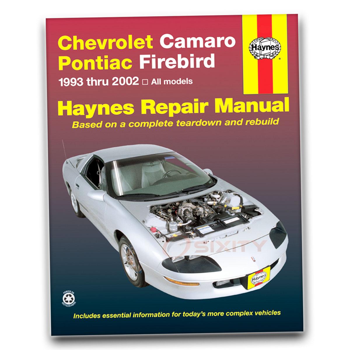 pontiac firebird haynes repair manual trans am formula gt base shop rh ebay com 2015 Firebird 2002 Pontiac Firebird