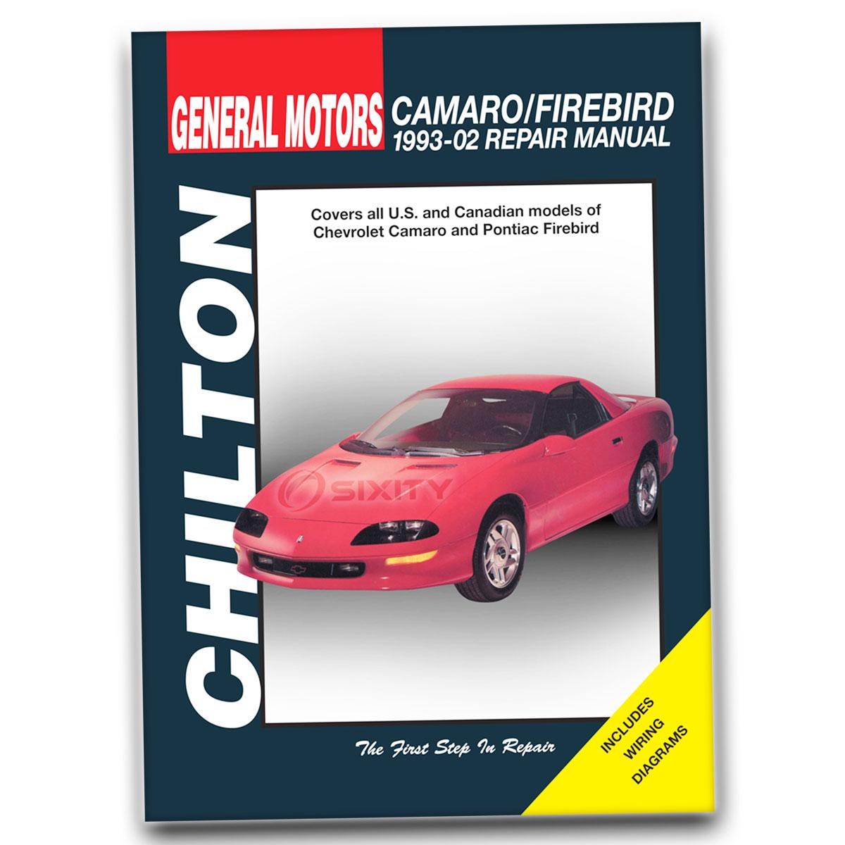 Pontiac Firebird Chilton Repair Manual Trans Am GT Formula Base Shop Service  ni