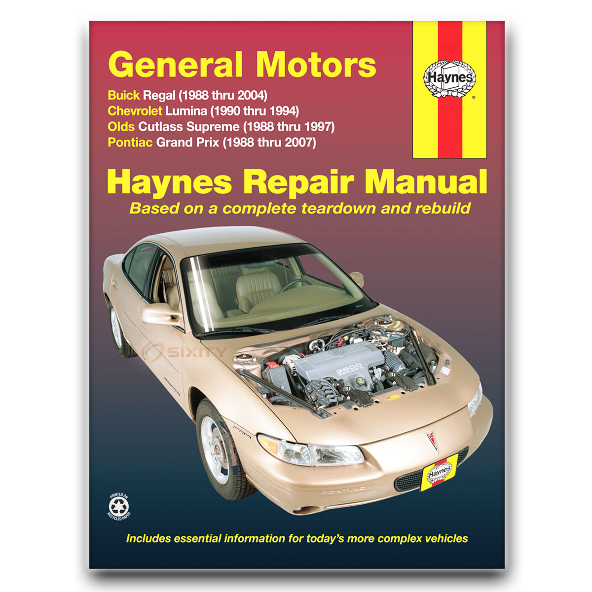 Haynes Repair Manual for Pontiac Grand Prix GT2 SE Base GXP GT1 GTP STE LE  lq