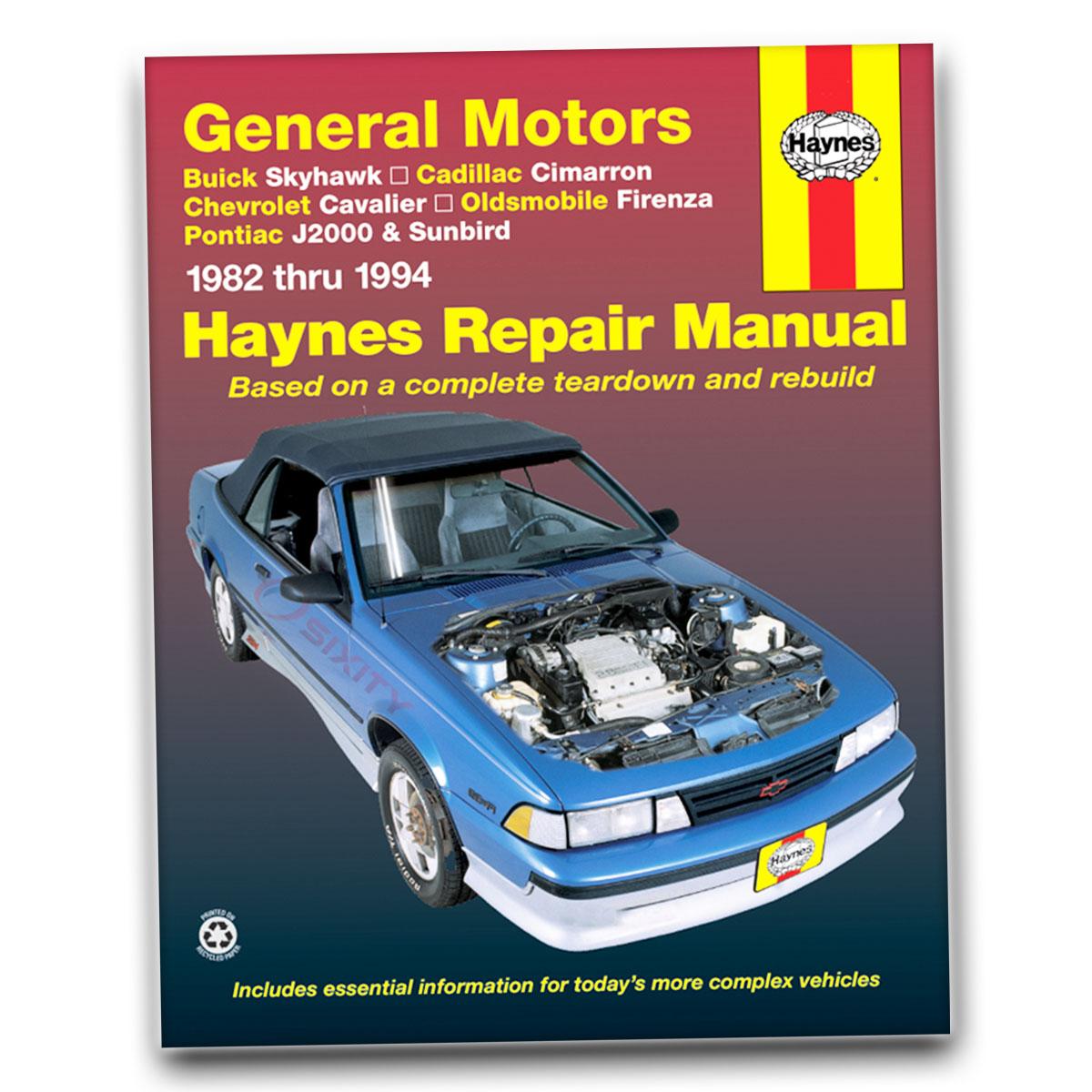 sunbird haynes repair manual pontiac j2000 le tienda garaje servicio rh ebay com 1985 Pontiac Sunbird 1998 Pontiac Sunbird