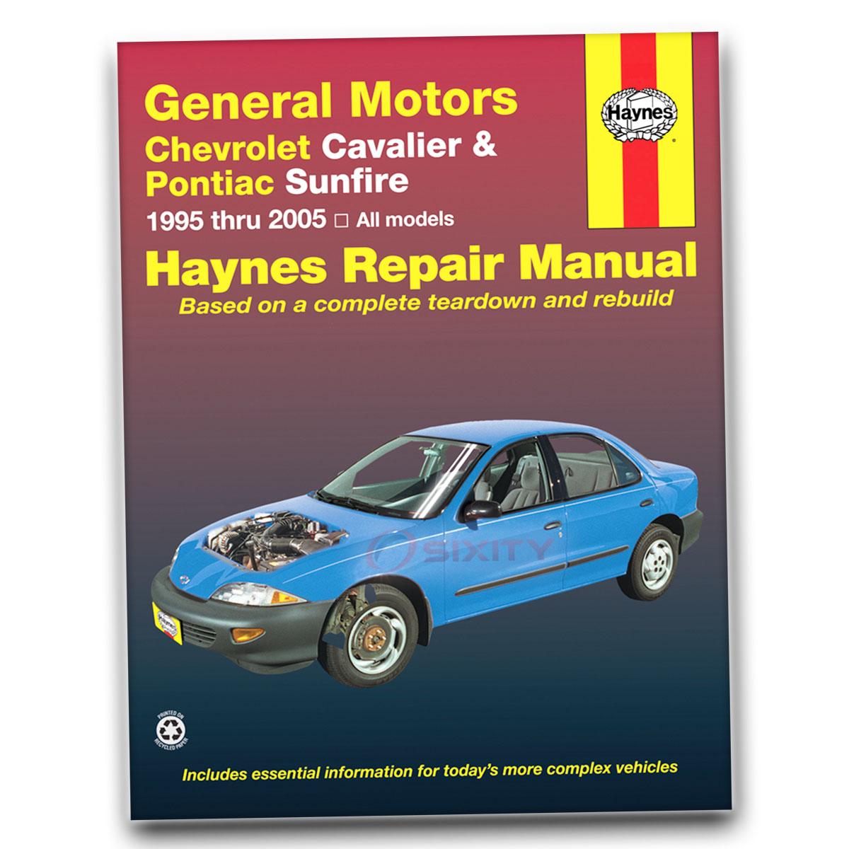 pontiac sunfire haynes repair manual gt base se shop service garage rh ebay com 2002 Pontiac Sunfire 2002 Pontiac Sunfire