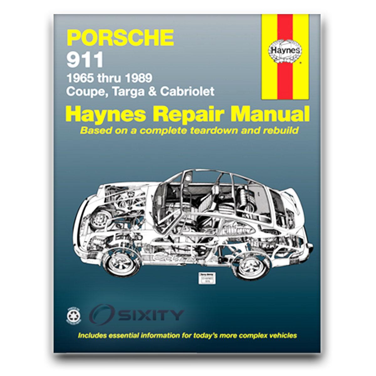 porsche 911 haynes repair manual base carrera sc e 4 turbo. Black Bedroom Furniture Sets. Home Design Ideas