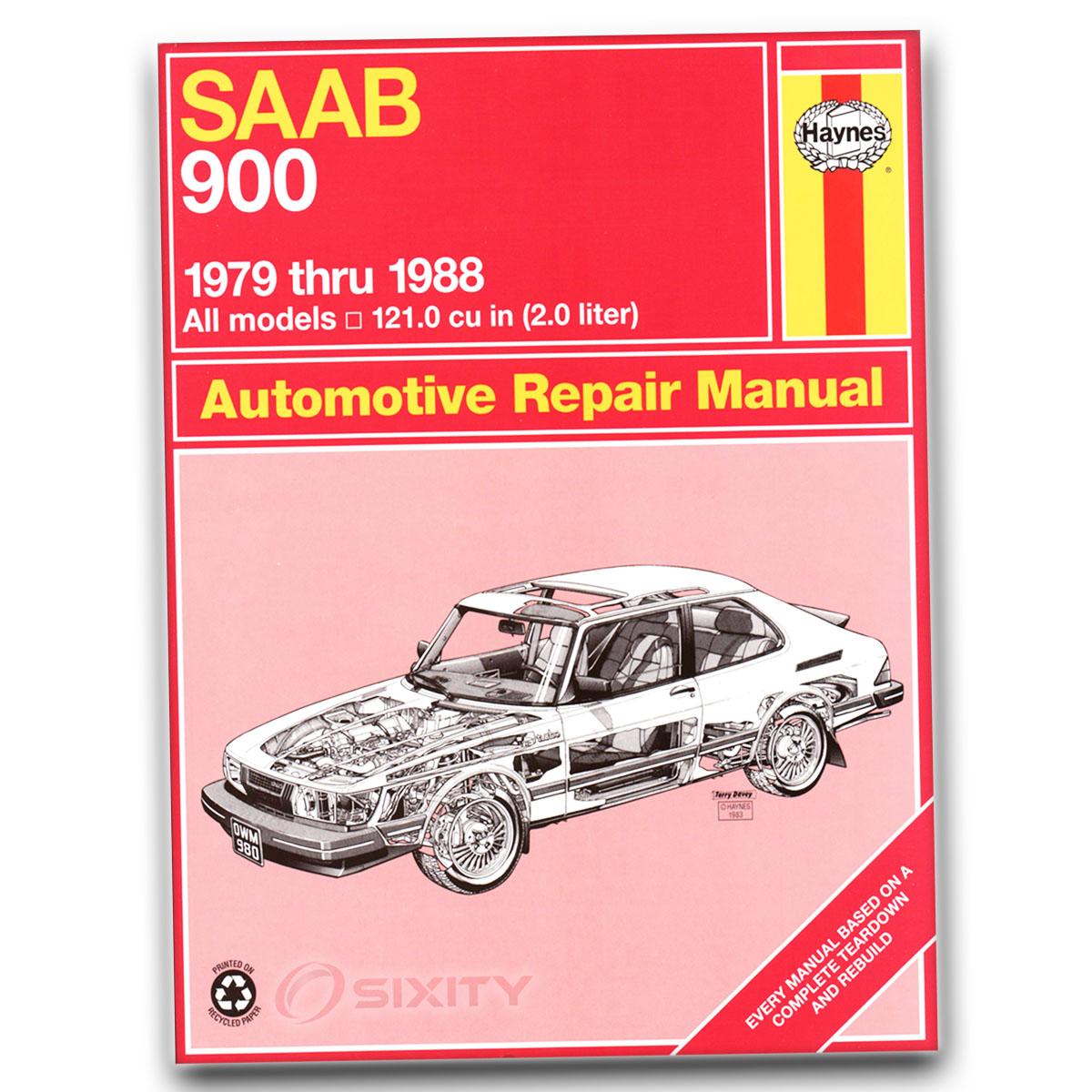 Haynes Repair Manual for Saab 900 EMS GLE Turbo Base GLI SPG Shop Service bh