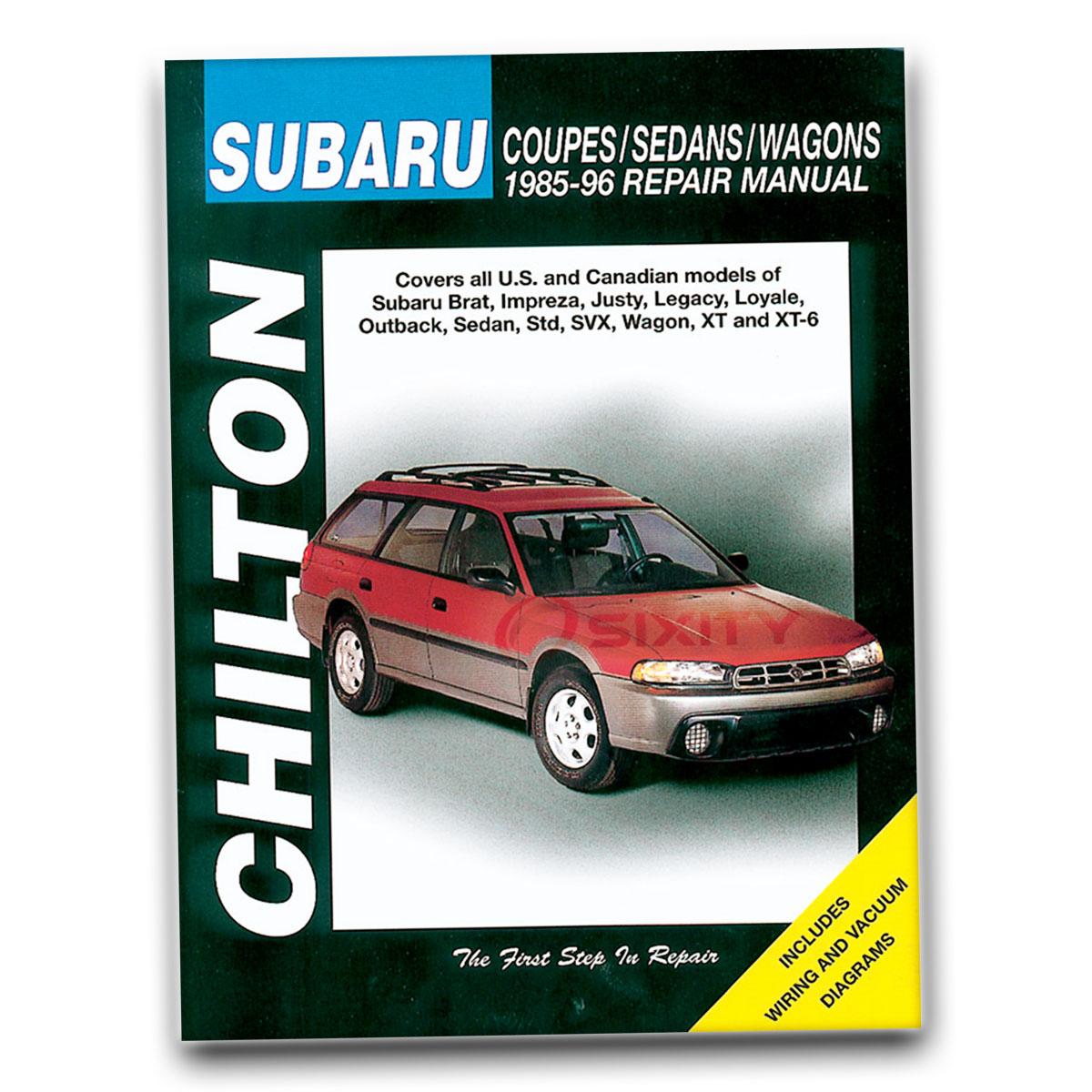 Chilton Repair Manual For 1987 1994 Subaru Justy Shop Service Garage Book By Ebay