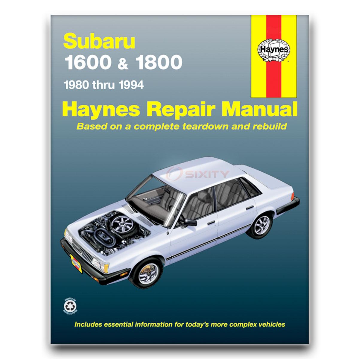 Subaru gl haynes repair manual base turbo shop service garage book xj