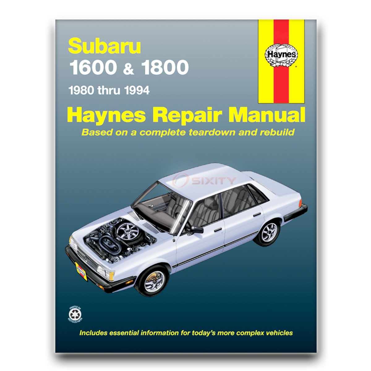 Haynes Repair Manual for Subaru Loyale Base RS Turbo Shop Service Garage  Boo sn