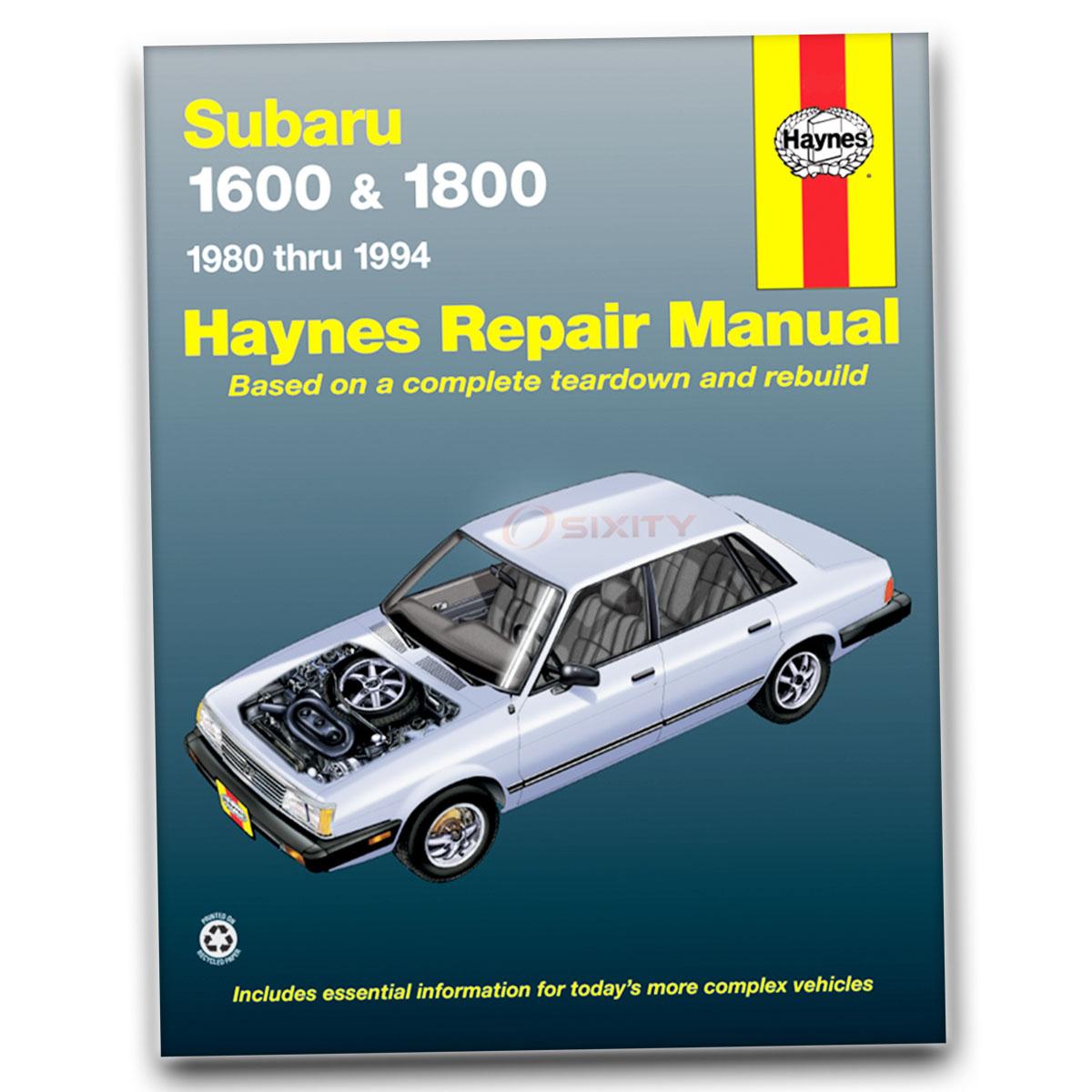 Haynes Repair Manual for Subaru XT DL GL-10 Turbo Shop Service Garage Book  zz