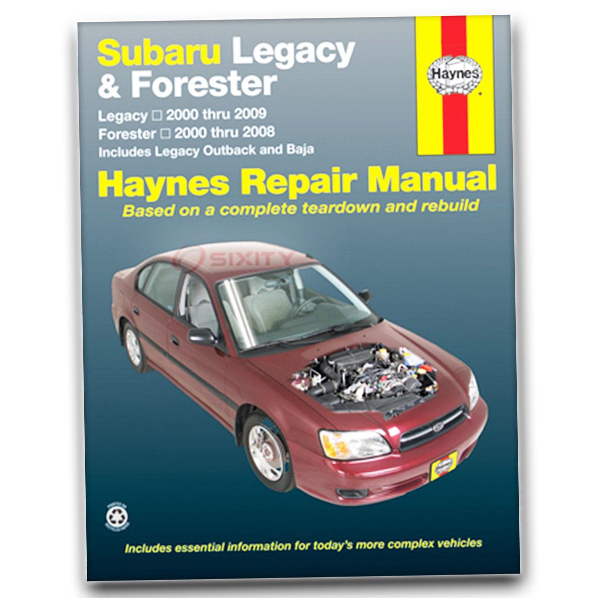 Haynes Repair Manual for Subaru Legacy GT spec.B L 35th Anniversary 2.5i sr