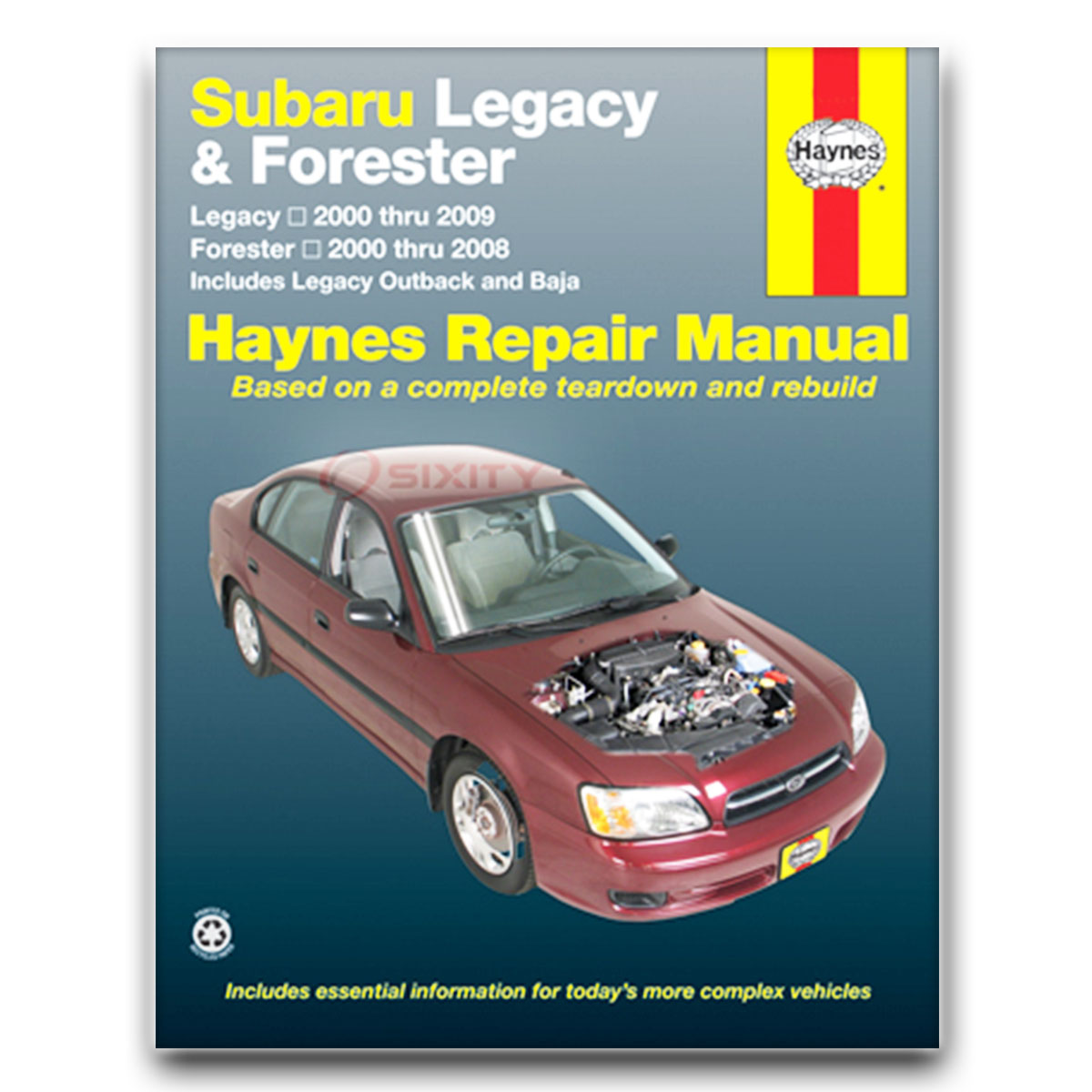 Haynes Repair Manual for Subaru Outback Limited H6 2.5i Basic VDC L.L. Bean  wg