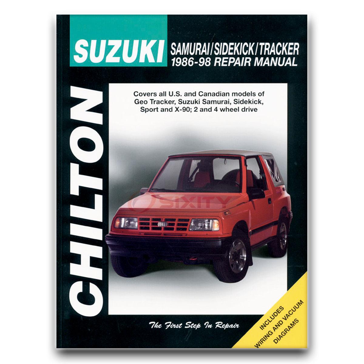 Chilton Repair Manual for Suzuki Samurai JX SE JS JL Base JA Shop Service rr