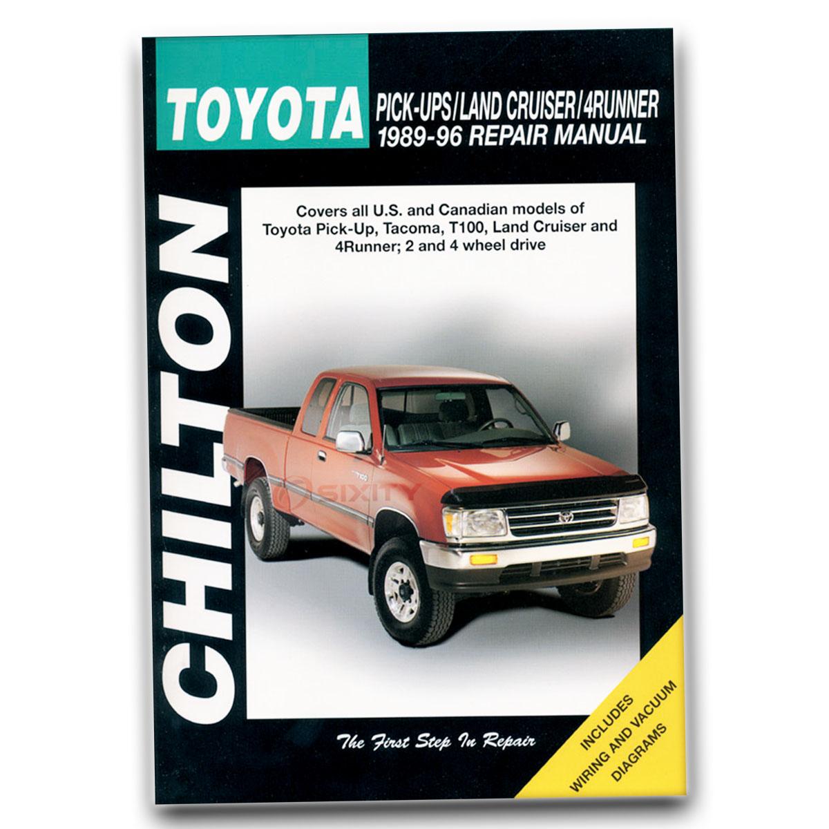 Toyota 4Runner Chilton Repair Manual SR5 Base Limited DLX Shop Service af