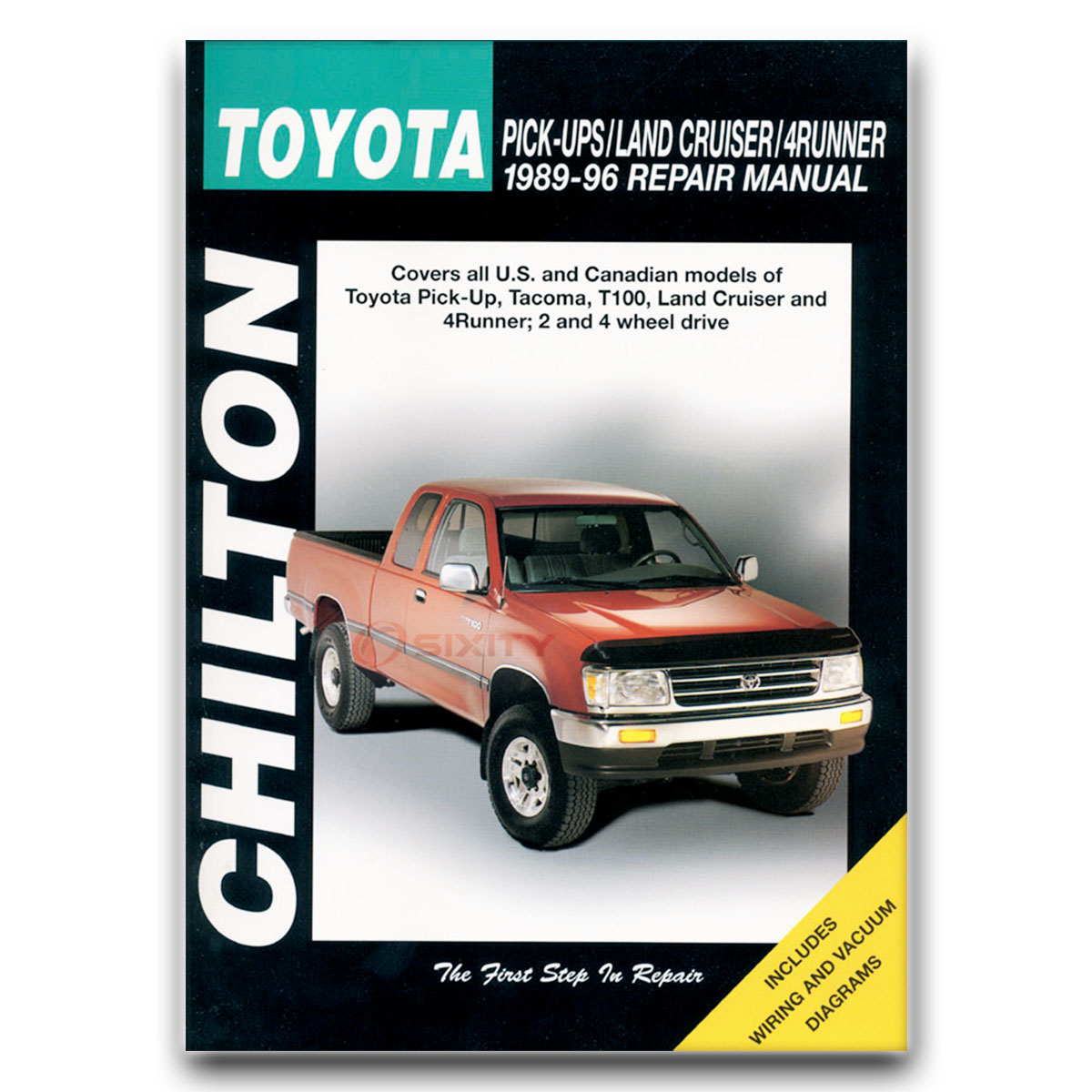 Chilton Repair Manual For Toyota Pickup Sr5 Base Dlx Shop Service Fj Cruiser Wiring Diagram Together With 1994 22re Vacuum Garage Boo Je