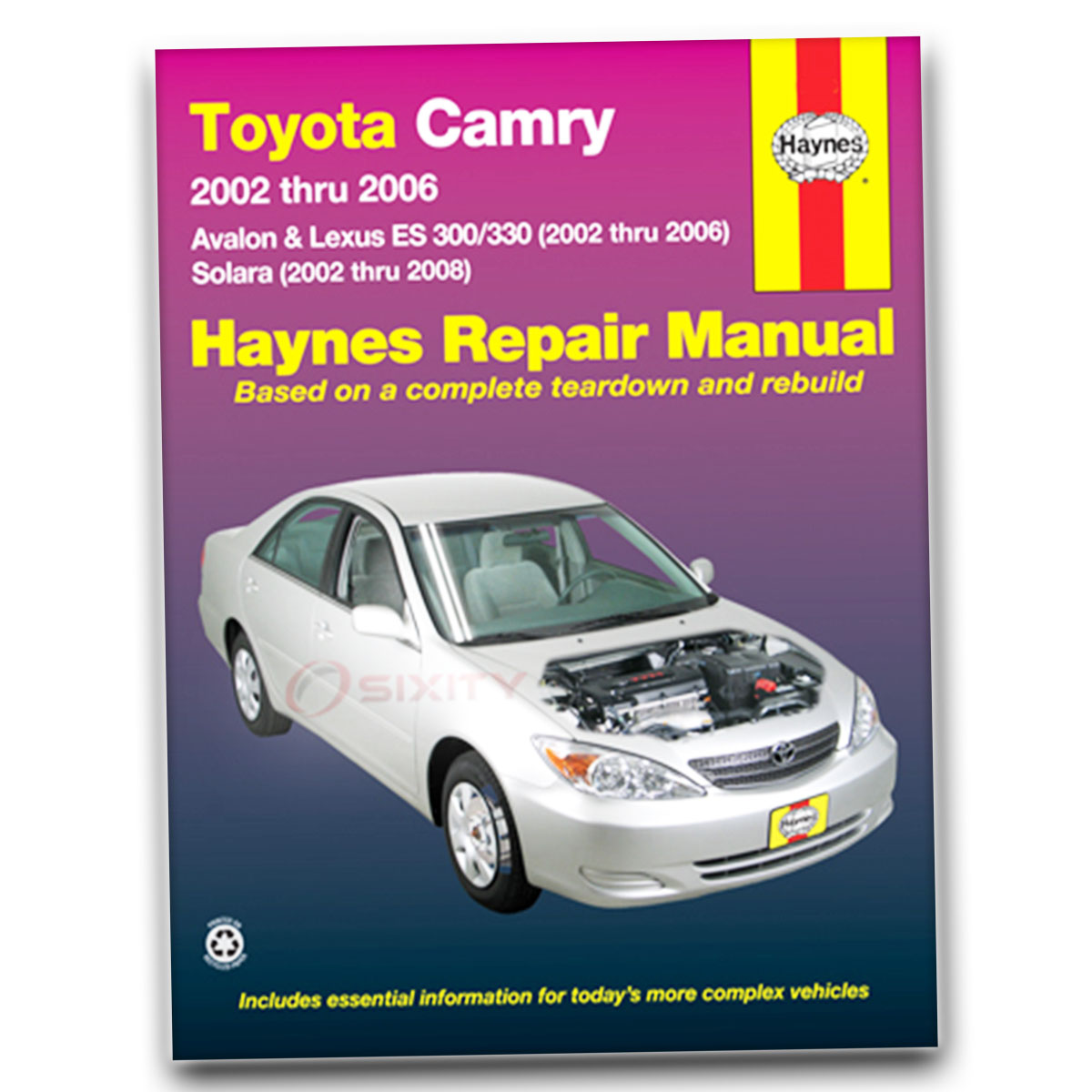 toyota camry haynes repair manual base xle se shop service garage rh ebay com 05 Toyota Tacoma 4 0 Diagram Toyota Parts