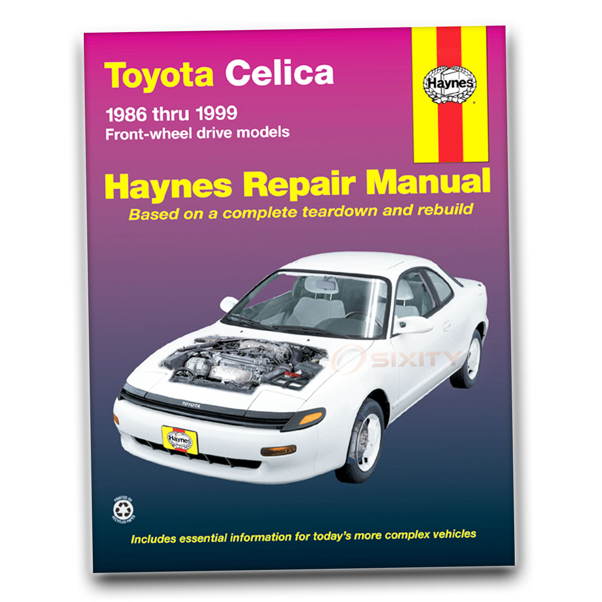 Toyota Celica Haynes Repair Manual All Trac Gts St Shop Service Garage Book Zs