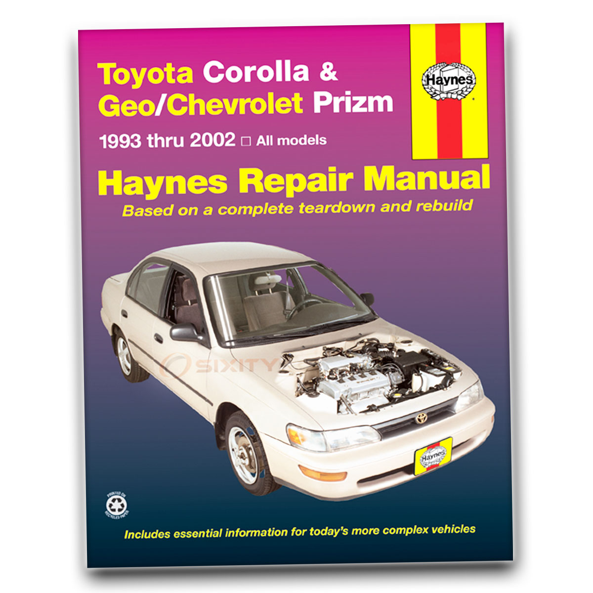 toyota corolla haynes repair manual s ve dx ce base le shop service rh ebay com 1993 Cadillac STS Interior 1993 Cadillac STS Inside