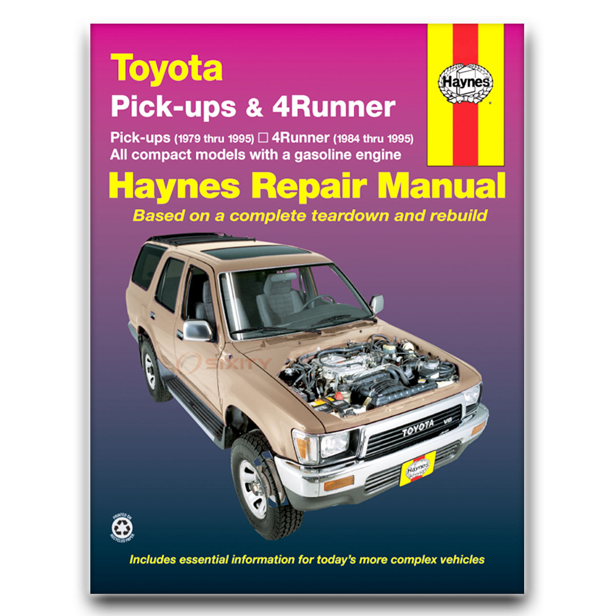 toyota 4runner haynes repair manual sr5 dlx shop service garage book rh ebay com 1995 toyota 4runner repair manual 1994 4Runner