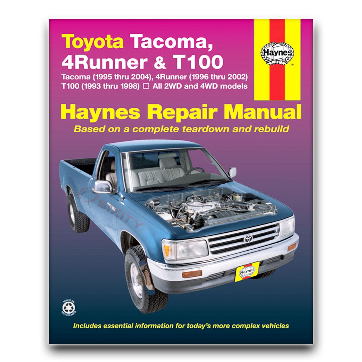 toyota 4runner haynes repair manual limited base sr5 shop service rh ebay com 1993 toyota 4runner owners manual 1993 toyota 4runner service manual pdf