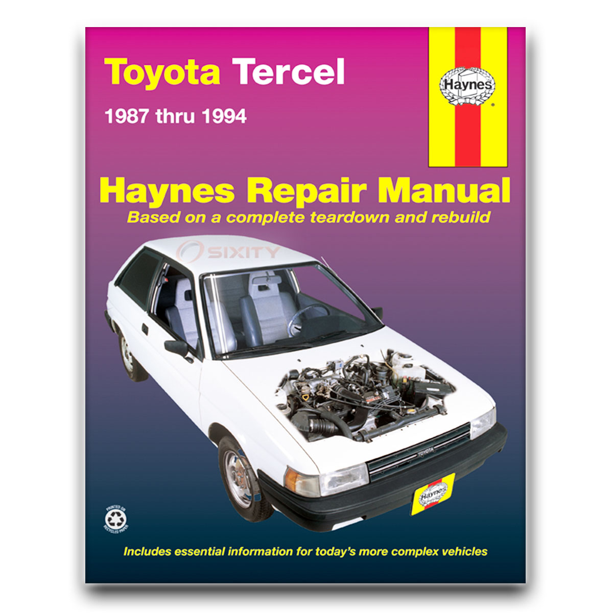 Toyota Tercel Haynes Repair Manual Sr5 Le Dx Std Dlx Base