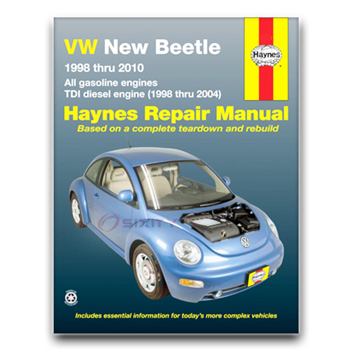 volkswagen vw beetle haynes repair manual base 2 5 glx sport turbo rh ebay com 2004 volkswagen beetle convertible repair manual 2004 Beetle Interior
