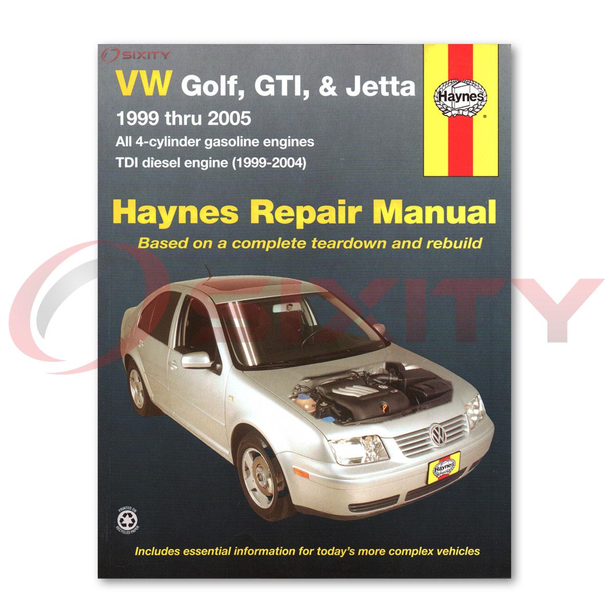 Volkswagen VW Golf Haynes Repair Manual GTI GL GLS TDI 1.8T VR6 Wolfsburg ma