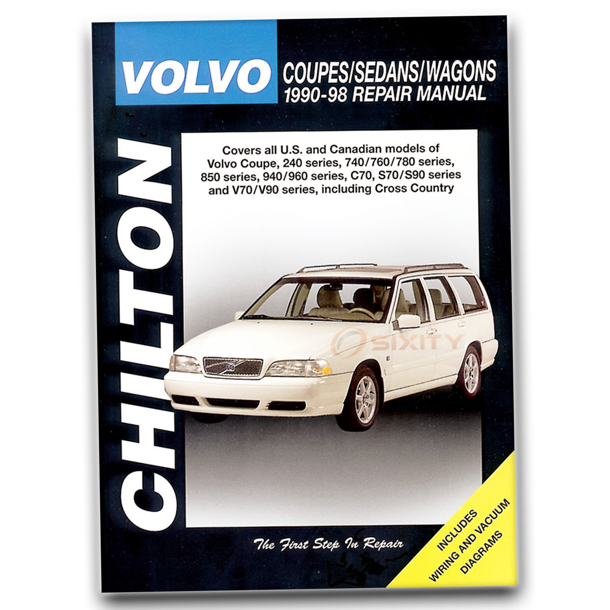 Chilton Repair Manual For Volvo 740 Gl Base Gle T Shop Service Truck Wiring Diagrams Sx381 Book