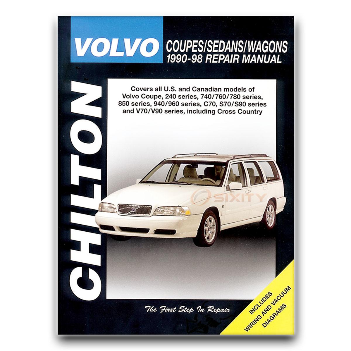 Volvo 760 Chilton Repair Manual Base GLE Shop Service Garage Book nx