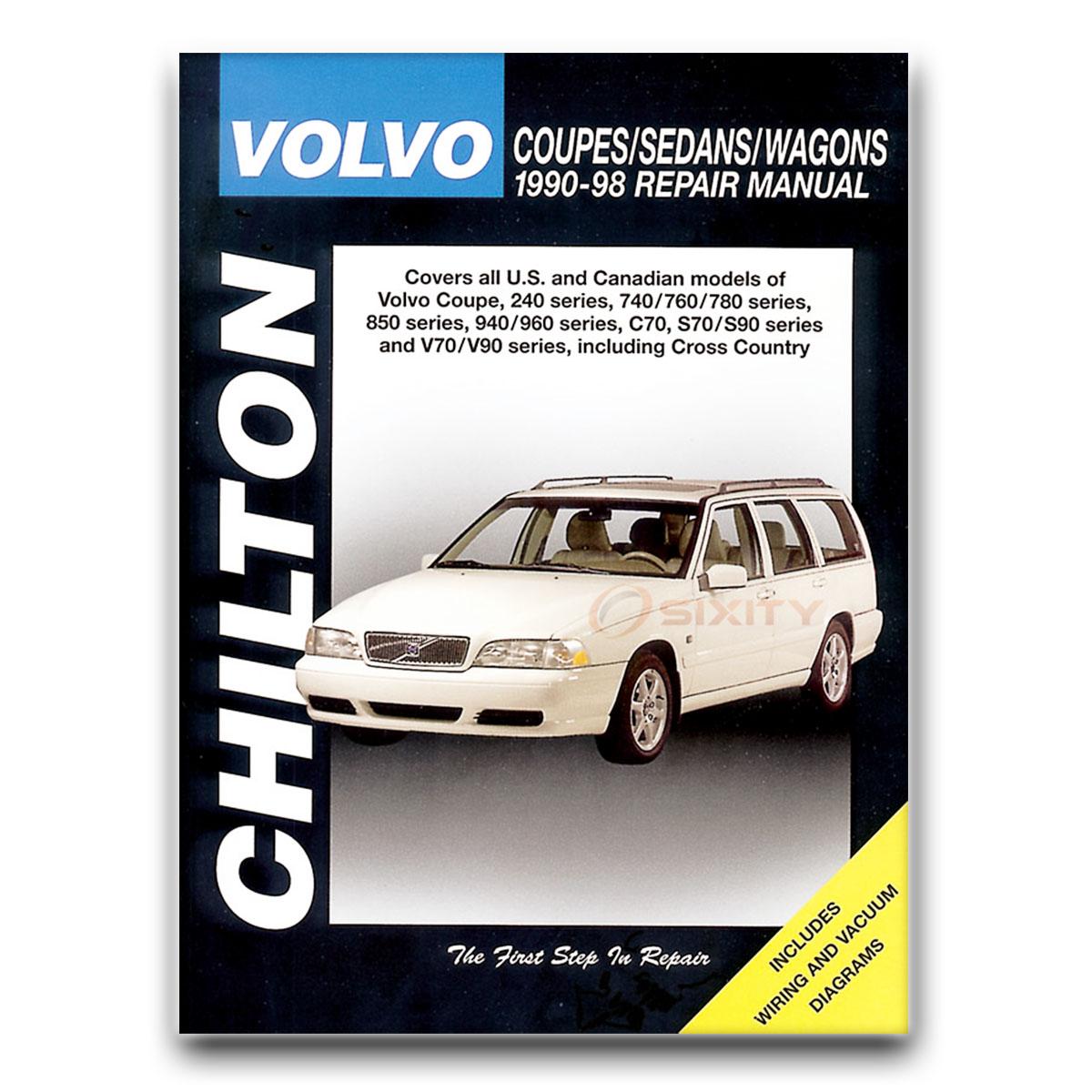 Chilton Repair Manual for Volvo 850 GLT T-5 Turbo T-5R Base Shop Service yb