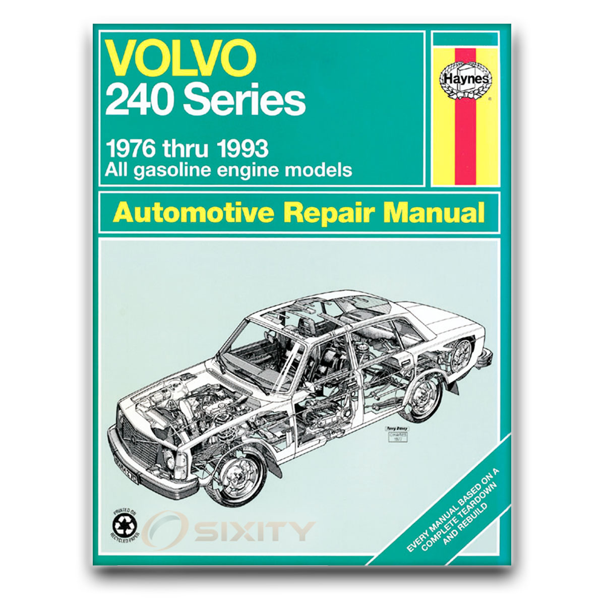 Haynes Repair Manual for Volvo 240 Base DL SE Shop Service Garage Book jr