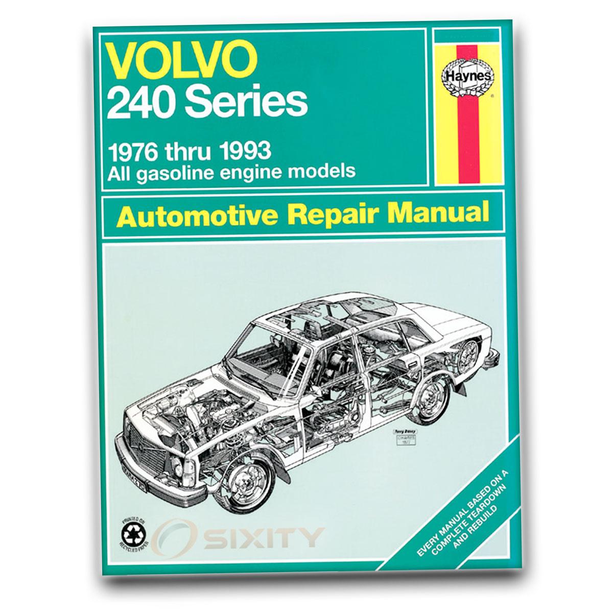 Shop Turbo Specific: Volvo 242 Haynes Repair Manual DL GL GLT Turbo Base Shop