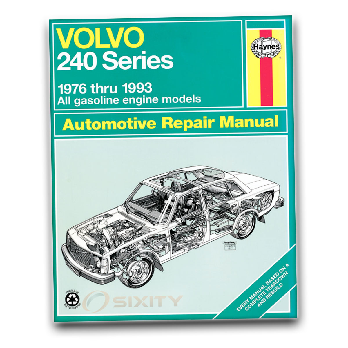 volvo 245 haynes repair manual glt base dl shop service garage book rh ebay com Diesel Timing Marks John Deere 455 Diesel Manual