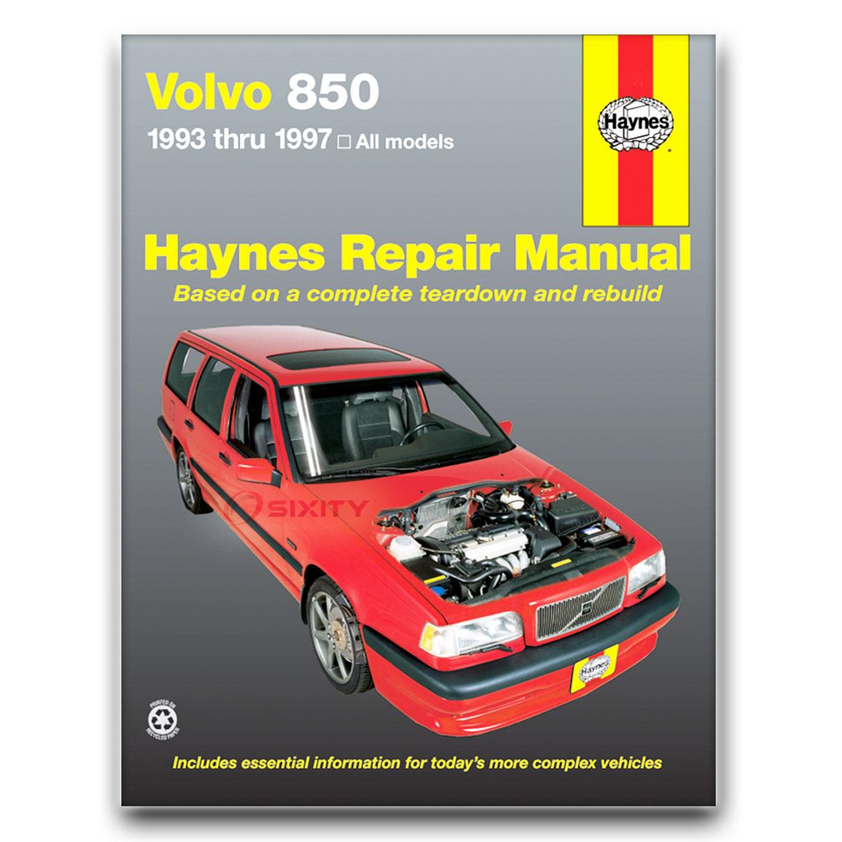 volvo 850 haynes repair manual r glt turbo base t 5 t 5r shop rh ebay com 1997 Volvo 850 1992 850 Volvo