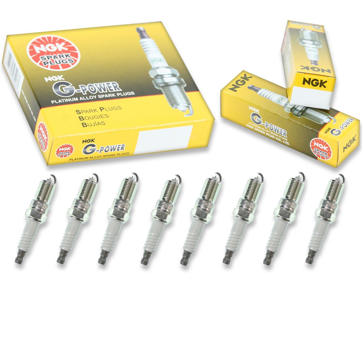 8 pcs NGK V-Power Spark Plugs for 1984-1986 Chevrolet K10 Suburban 5.7L 5.0L vf