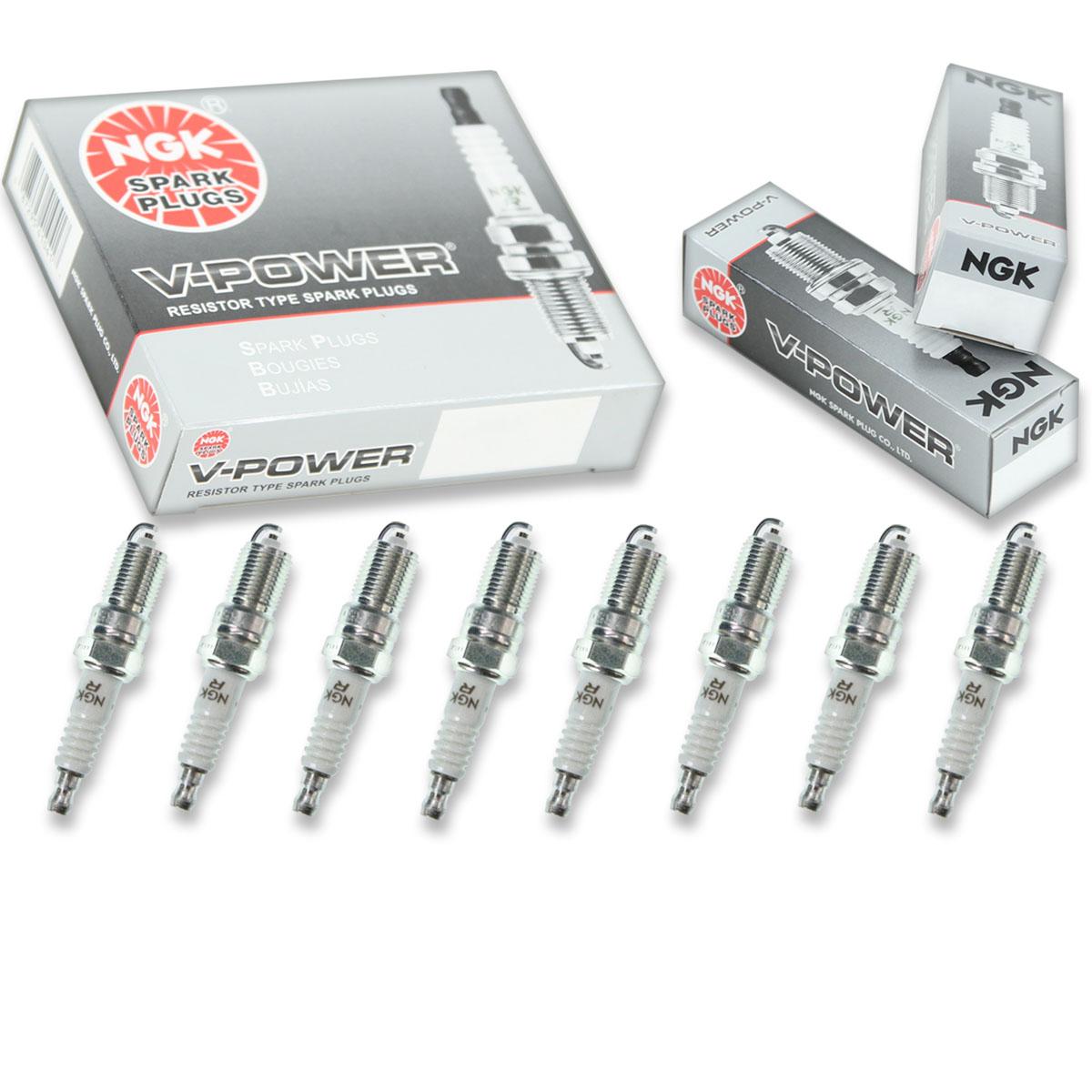 8 pcs NGK V-Power Spark Plugs for 2007-2010 Cadillac STS 4.6L V8 4.6L nc