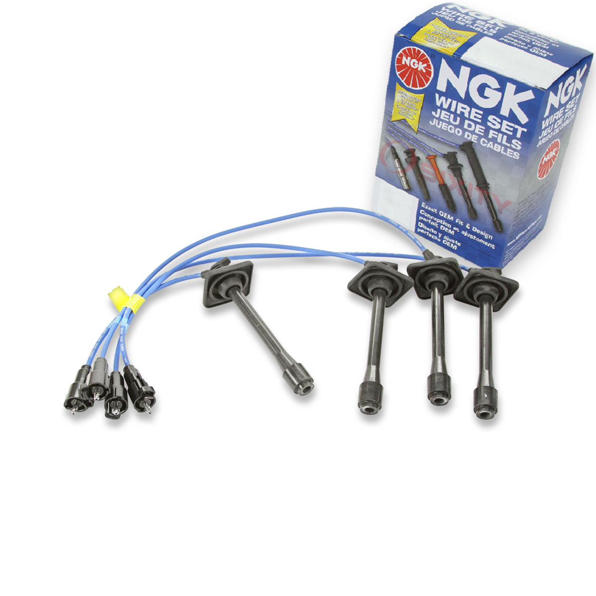 Set Of NGK Wires And 4 Platinum Spark Plugs For 99-01 Toyota Solara 2.2L DOHC