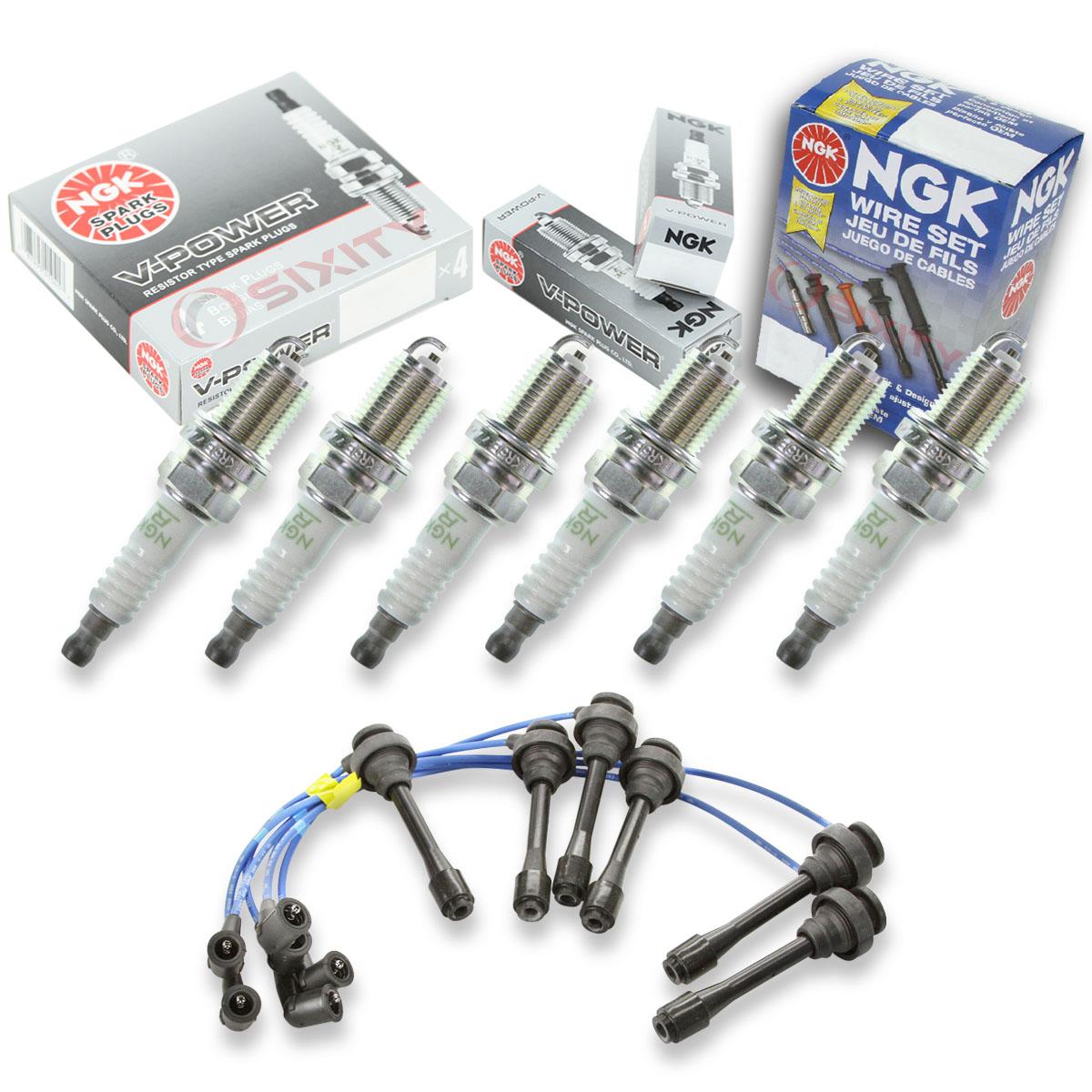 6 pcs NGK V-Power Spark Plugs for 2003-2006 Mitsubishi Montero 3.8L V6 vq