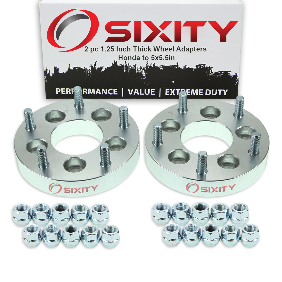 """4pc 1.25/"""" 5x4.5 TO 5X5 Wheel Spacers Adapters 12x1.5 HONDA CIVIC CR-V ODYSSEY"""