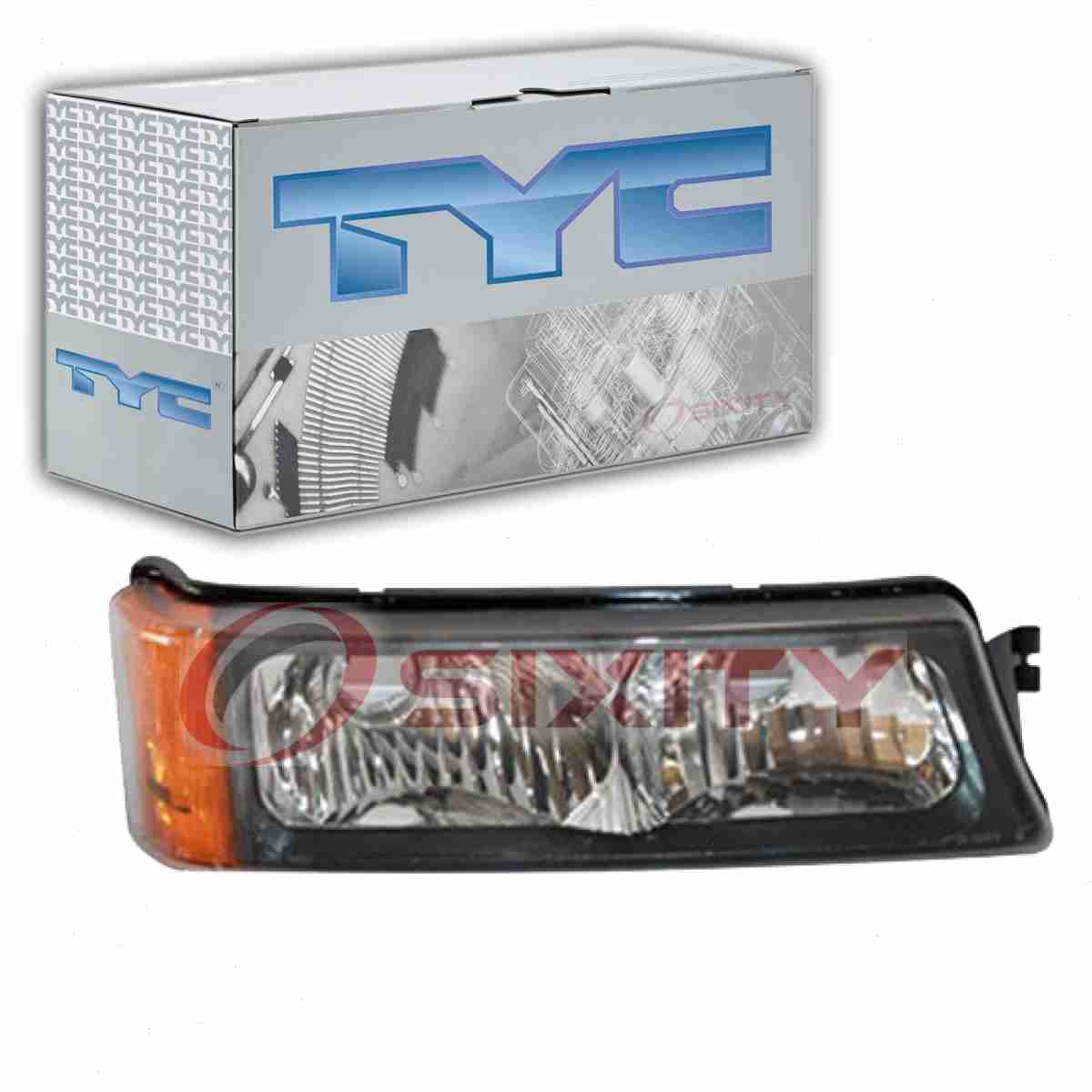 TYC Front Right Turn Signal Parking Light Assembly for 2003-2006 Chevrolet eb
