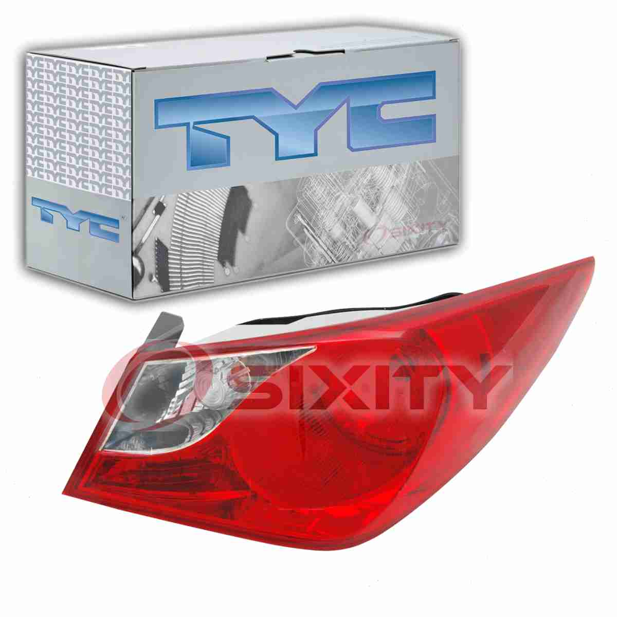 TYC Right Outer Tail Light Assembly for 2011-2014 Hyundai Sonata  mw