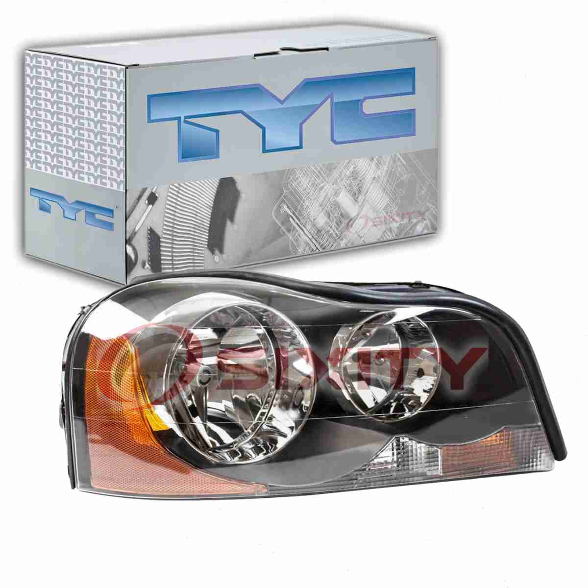 Driver side WITH install kit 2008 Volvo VHD Side Roof mount spotlight -Chrome 6 inch 100W Halogen