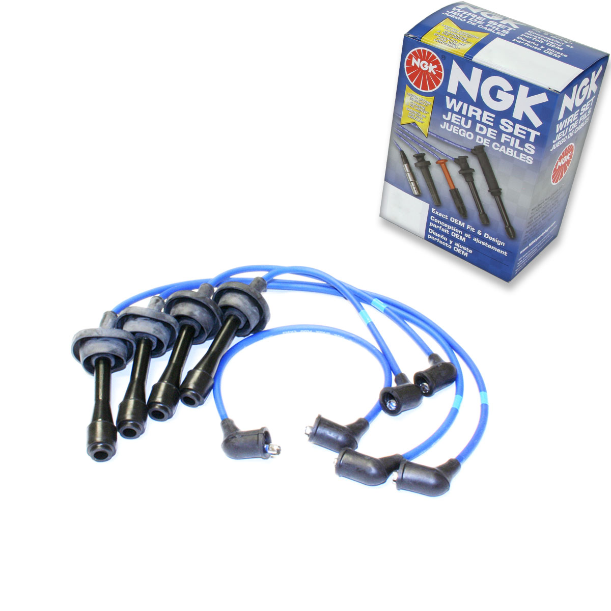 For NGK Spark Plug Wires Set Coupe Sedan for Toyota Corolla 1971-1982