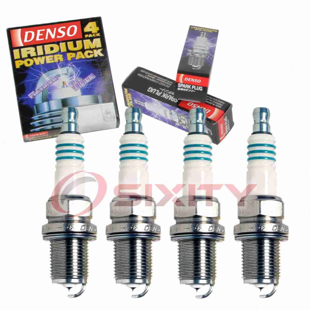 For Set of 4 IRIDIUM Power Performance Spark Plugs for Nissan Scion Toyota L4
