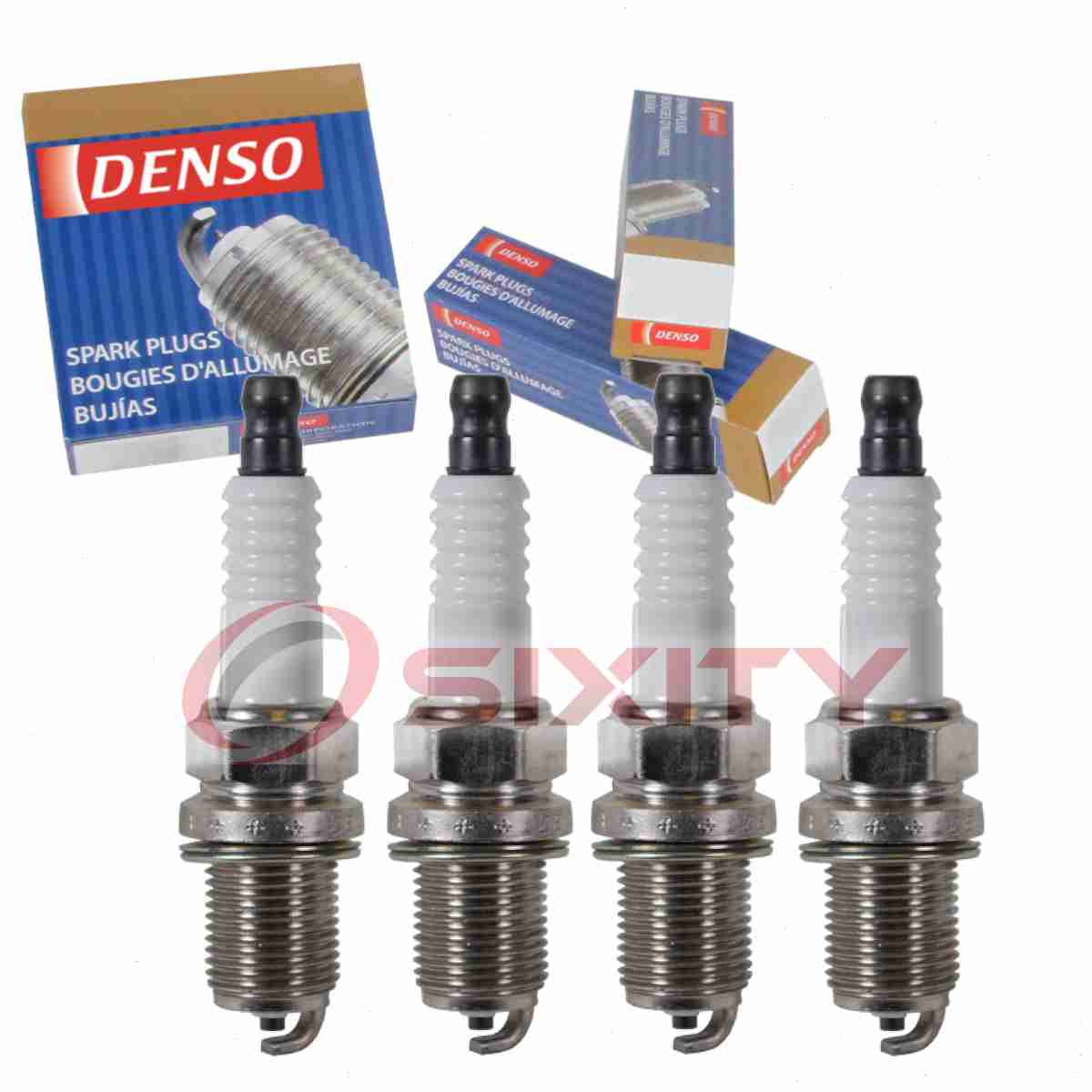 4 Denso Platinum TT Spark Plugs for Suzuki SX4 2.0L L4 2007-2010 Tune Up