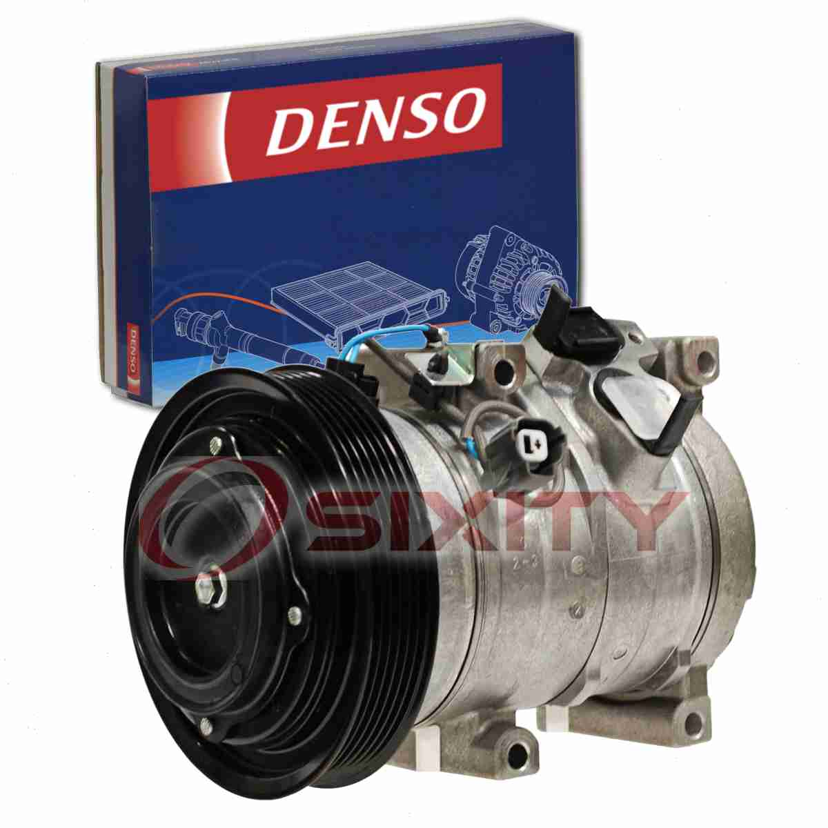 The DENSO A/C Compressor and Clutch is the heart of any climate control  system. The HVAC system relies on the A/C compressor and clutch to  pressurize the ...