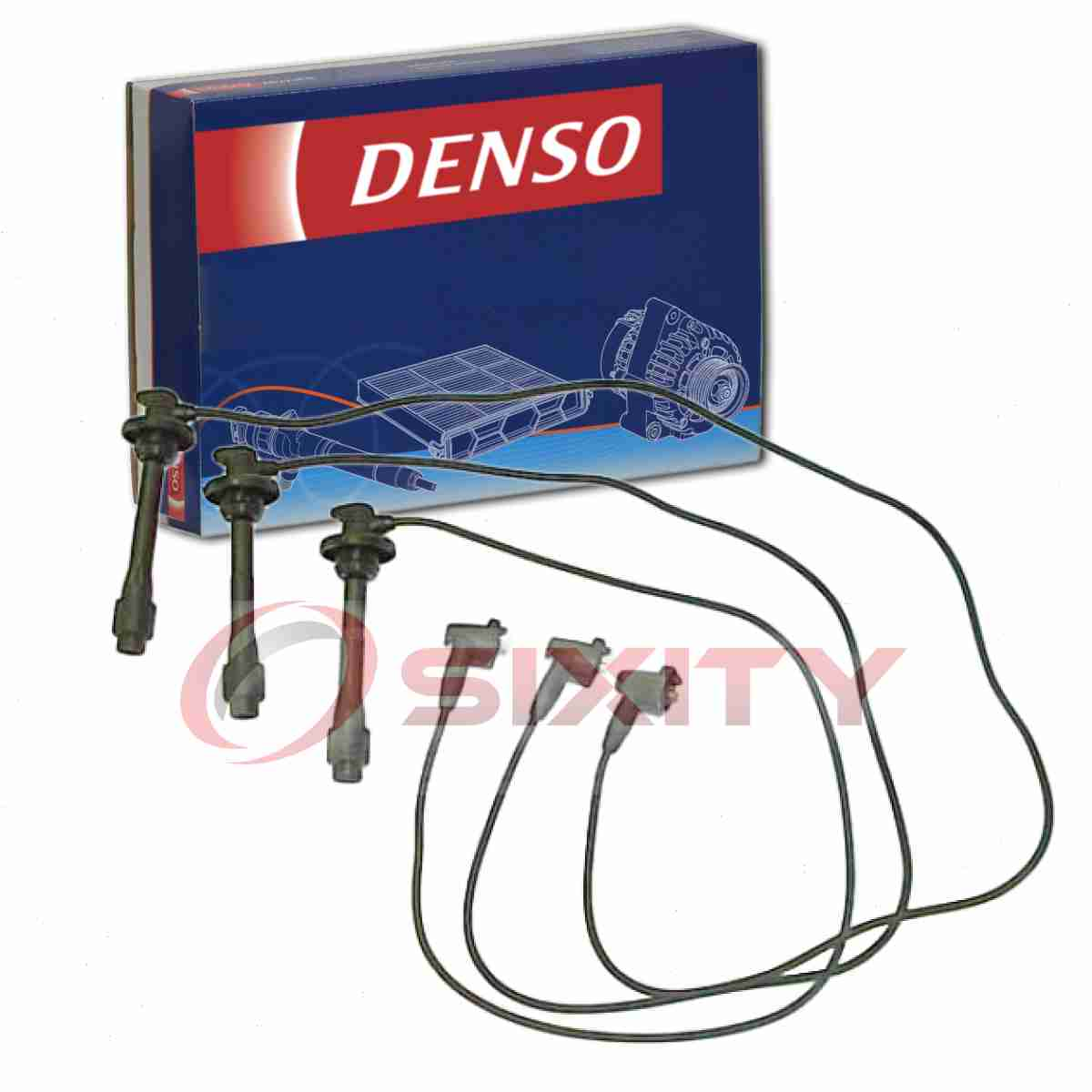 Denso Spark Plug Ignition Wires Set for Toyota Sienna 3.0L V6 1998-2000 Tune wh